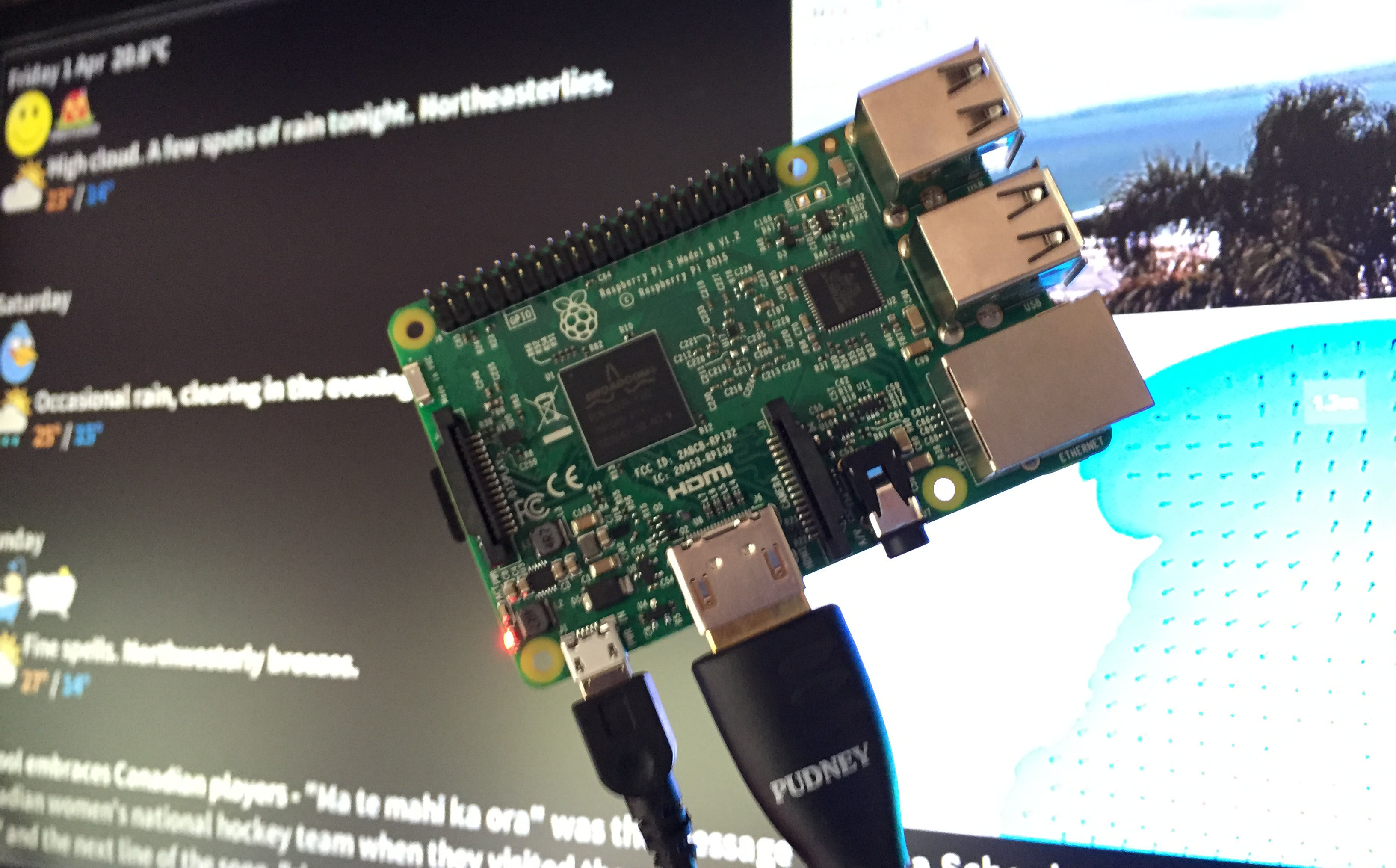 Raspberry Pi Notice Board feature image